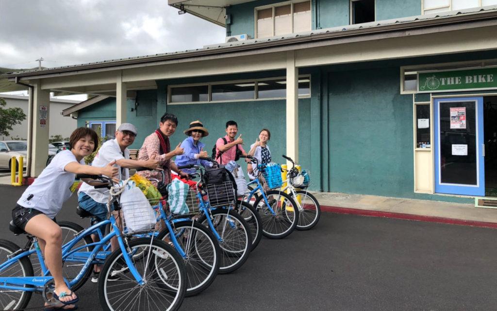 サイクリングでラニカイビーチ&ノースの海遊び