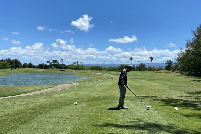 ゴルフ体験!ハワイプリンスゴルフ【目指せ100切り】①